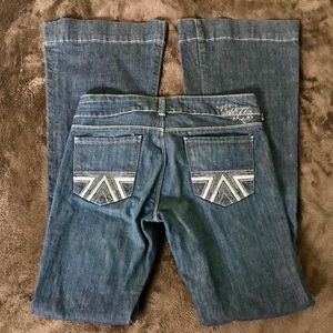 American Eagle Flared Jeans Size 6 Long